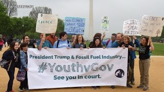 """""""See You in Court"""": Kids Suing Trump Admin over Climate Change Speak Out at March for Science"""