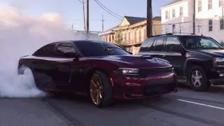 Dodge Charger Hellcat - INSANE BURNOUT MOPAR POWER