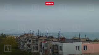 Украинские корабли у Крымского моста