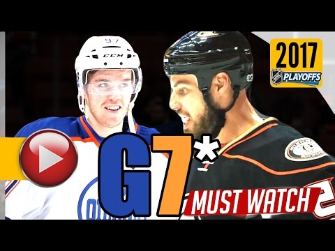 Edmonton Oilers vs Anaheim Ducks. 2017 NHL Playoffs. Round 2. Game 7. May 10th, 2017. (HD)