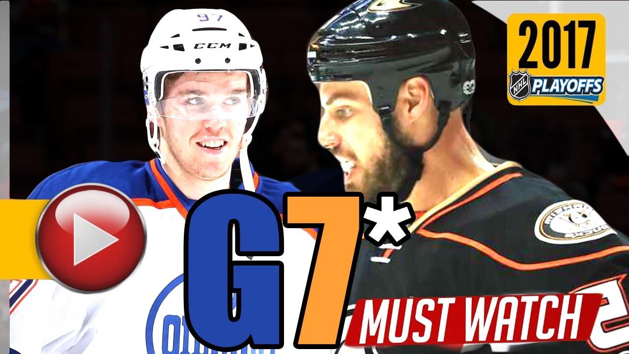 Anaheim Ducks vs. Edmonton Oilers in NHL playoffs Game 7 ...