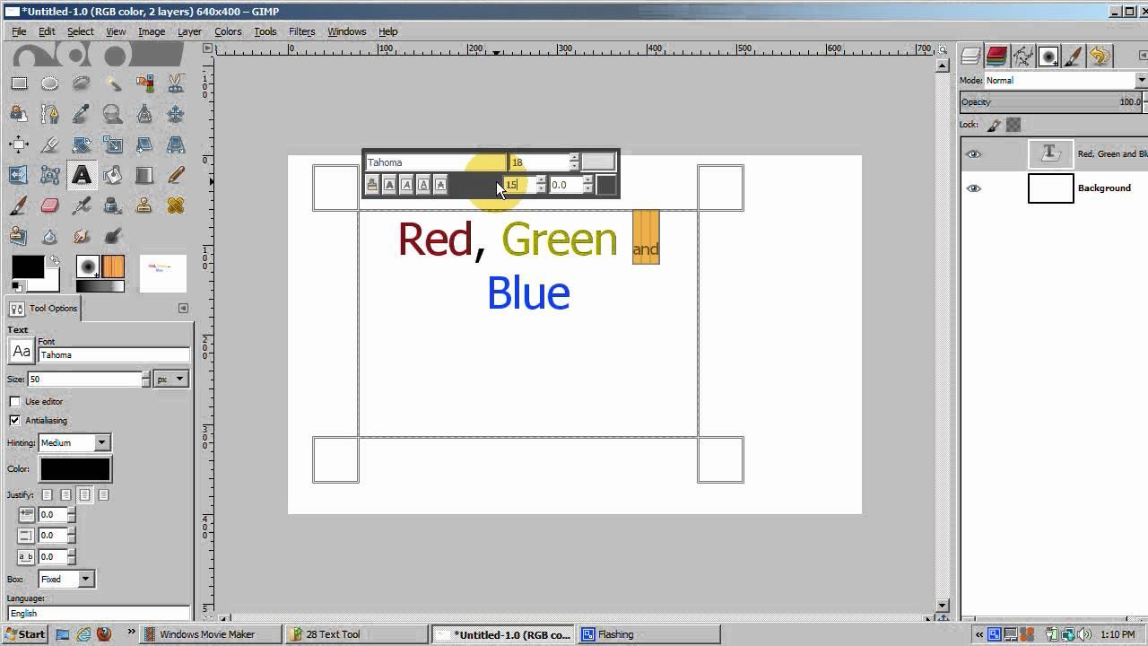 gimp 2 8 text tool youtube. Black Bedroom Furniture Sets. Home Design Ideas