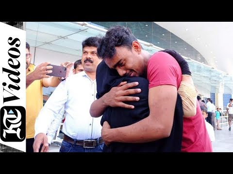 Emotional reunion of Indian mother with son after 17 years