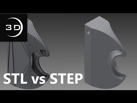 STL vs  STEP Files - What's the difference?!