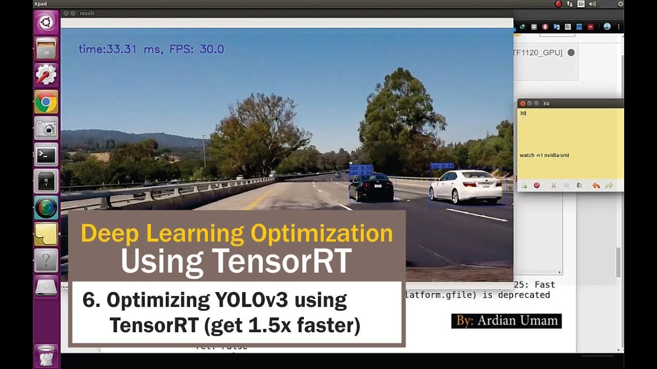 06 Optimizing YOLO version 3 Model using TensorRT with 1 5x Faster  Inference Time