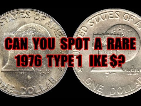 Bicentennial 1976 Eisenhower Dollars Type 1 & Type 2 - One Is Worth Thousand$ In High Grades!