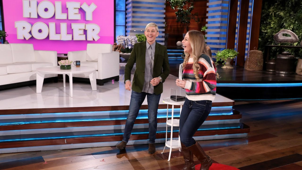 Fan Gets Giddy for the Grammys with 'Holey Roller'