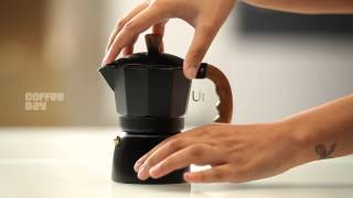 Make your favorite filter coffee using the Stove Top from Café Coffee Day