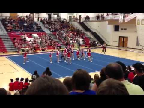 Hawkinsville High School Competition Cheerleaders