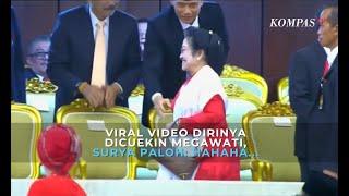 Viral Video Dirinya Dicuekin Megawati, Surya Paloh: Hahaha...