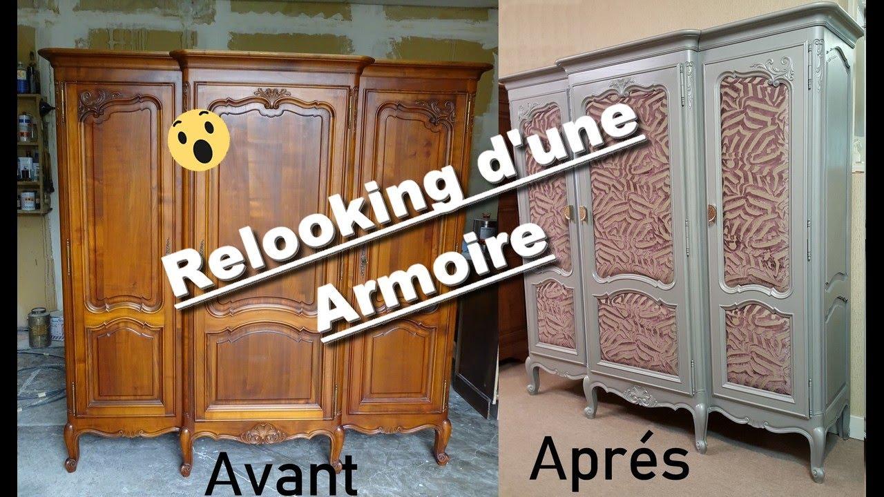 relooking armoire en bois
