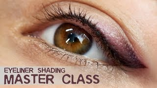 "Master Class EYELINER shading in 3 colors! Black, brown and ""champagne"""