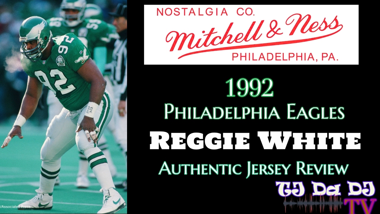 0b3d521c5e1 Mitchell   Ness 1992 Reggie White Philadelphia Eagles Authentic NFL Jersey  Review (TJ Da DJ TV)