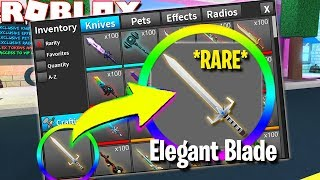 J'ai eu l'élégante lame. 'RAREST KNIFE EVER' (Roblox Assassin)