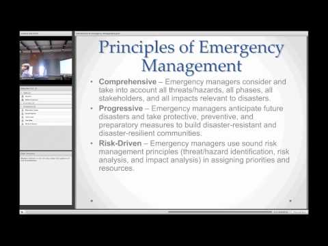 HOEPS 2014: Introduction to Emergency Management