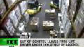 Drink Driving: Forklift smashes massive vodka stock thumbnail