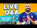 Euro 2020 Fantasy | Live Q&A Matchday 1 Tips