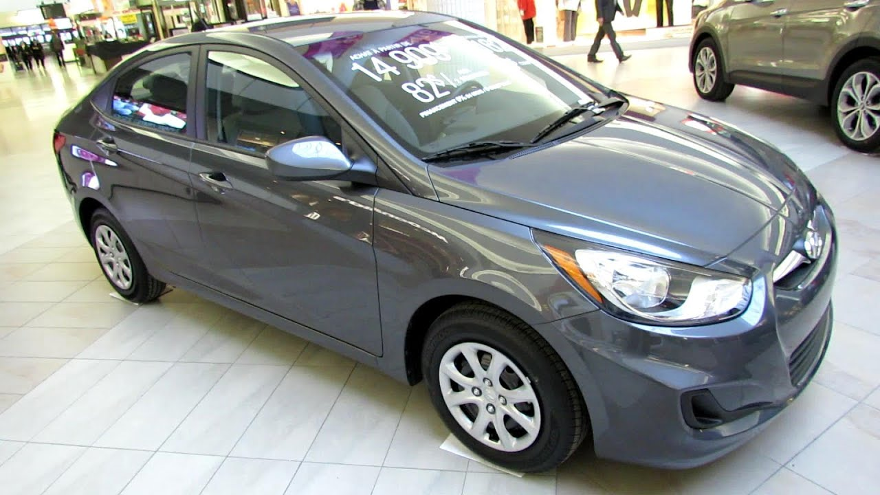 2013 Hyundai Accent Sedan >> 2013 Hyundai Accent Gl Exterior And Interior Walkaround Place Vertu Montreal