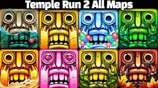 Temple Run 2 Pirate Cove VS Frozen Shadows VS Lost Jungle VS Blazing Sands