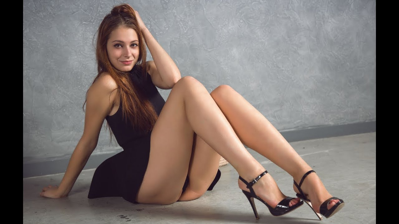 With legs women beautiful The woman