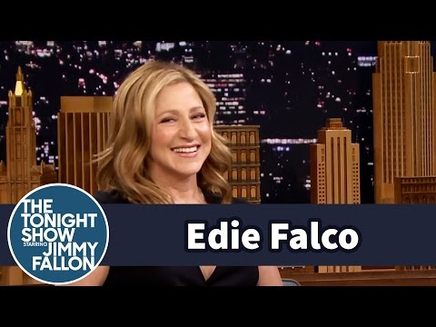 Edie Falco Gets a Redo Mets First Pitch with Jeremy Renner and Jimmy