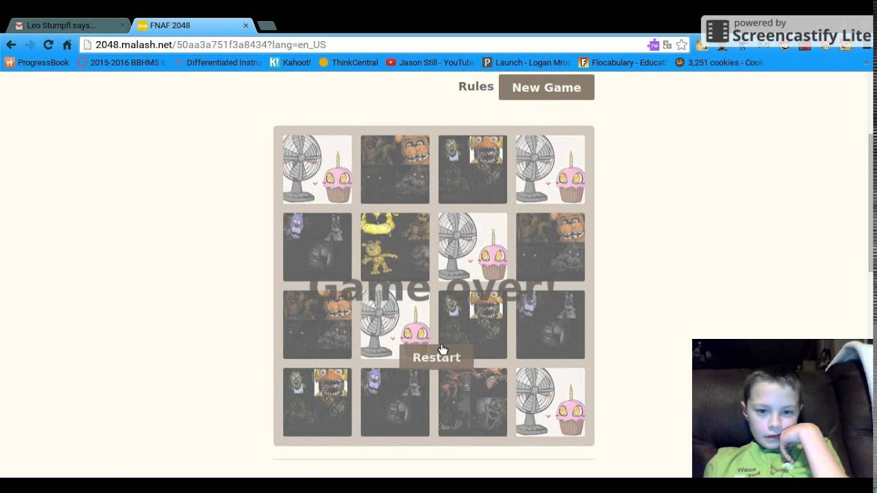 2048 Fnaf Logan Plays His Own Game Fnaf 2048 Link In The Desc