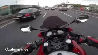 E-5'trafiği birbirine kattı, sosyal medyadan paylaştı
