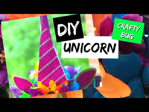DIY unicorn horn and Ears using glitter foam
