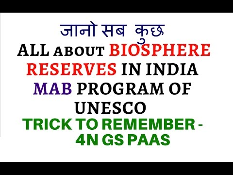 All about BIO SPHERE RESERVES in INDIA with MAP + TRICK to Remember - 4N GS PAAS