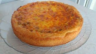 Обалденный Пирог с Грибами Это Нереально Вкусно. Вкусный завтрак Киш с Грибами
