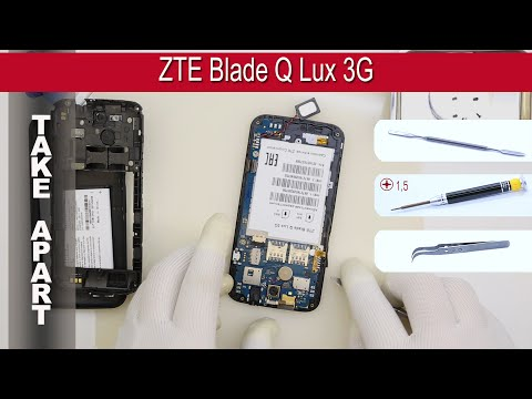 How to disassemble 📱 ZTE Blade Q Lux 3G T311 Take apart Tutorial