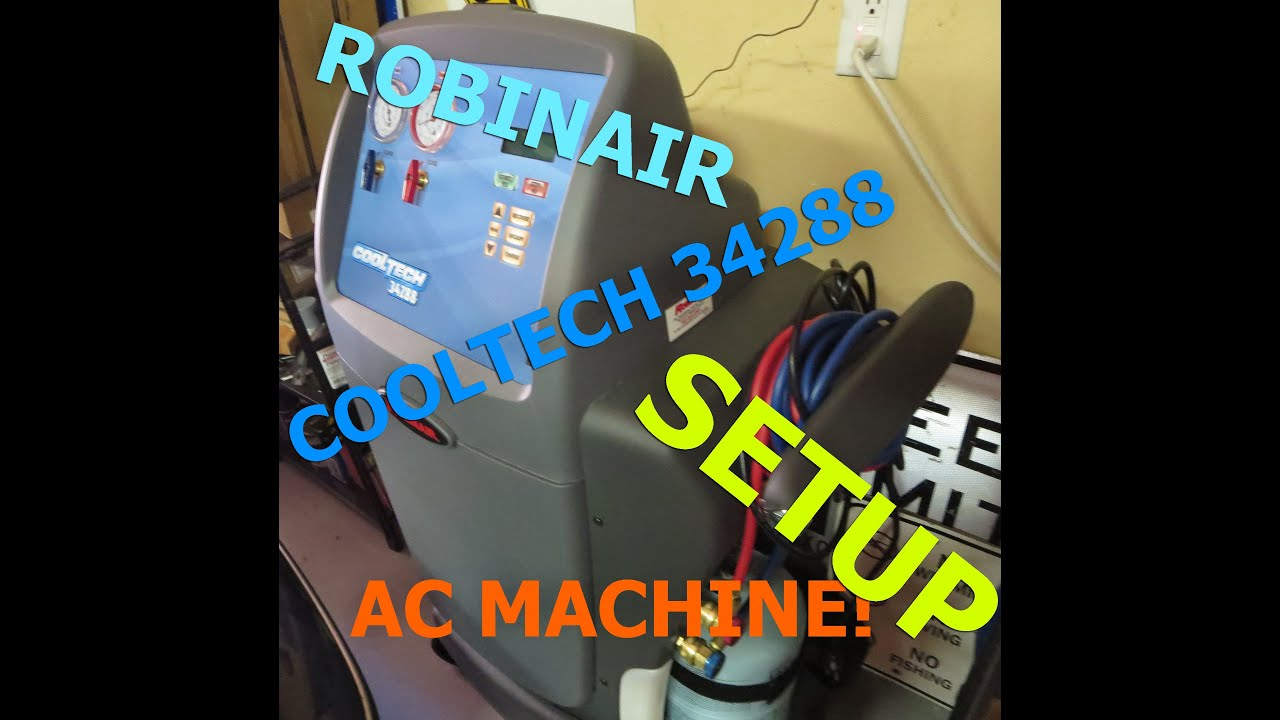 Robinair A C Recovery Machine R134a Model 34288 Setup Youtube Ac Unit Wiring Diagram