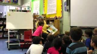 Pat is mystery reader at Megan school...