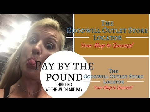 Florida Goodwill Outlet  | Haul at the Pay By Pound Bins- Thrifting Trip Weigh & Pay
