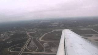 McDonnell Douglas DC-9 takeoff from Detroit on Delta Airlines