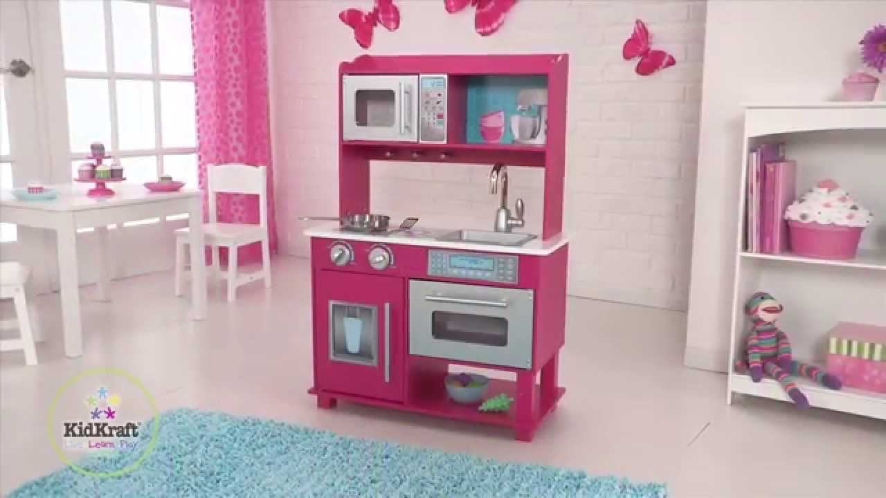 cuisine gracie pour enfant en bois kidkraft youtube. Black Bedroom Furniture Sets. Home Design Ideas