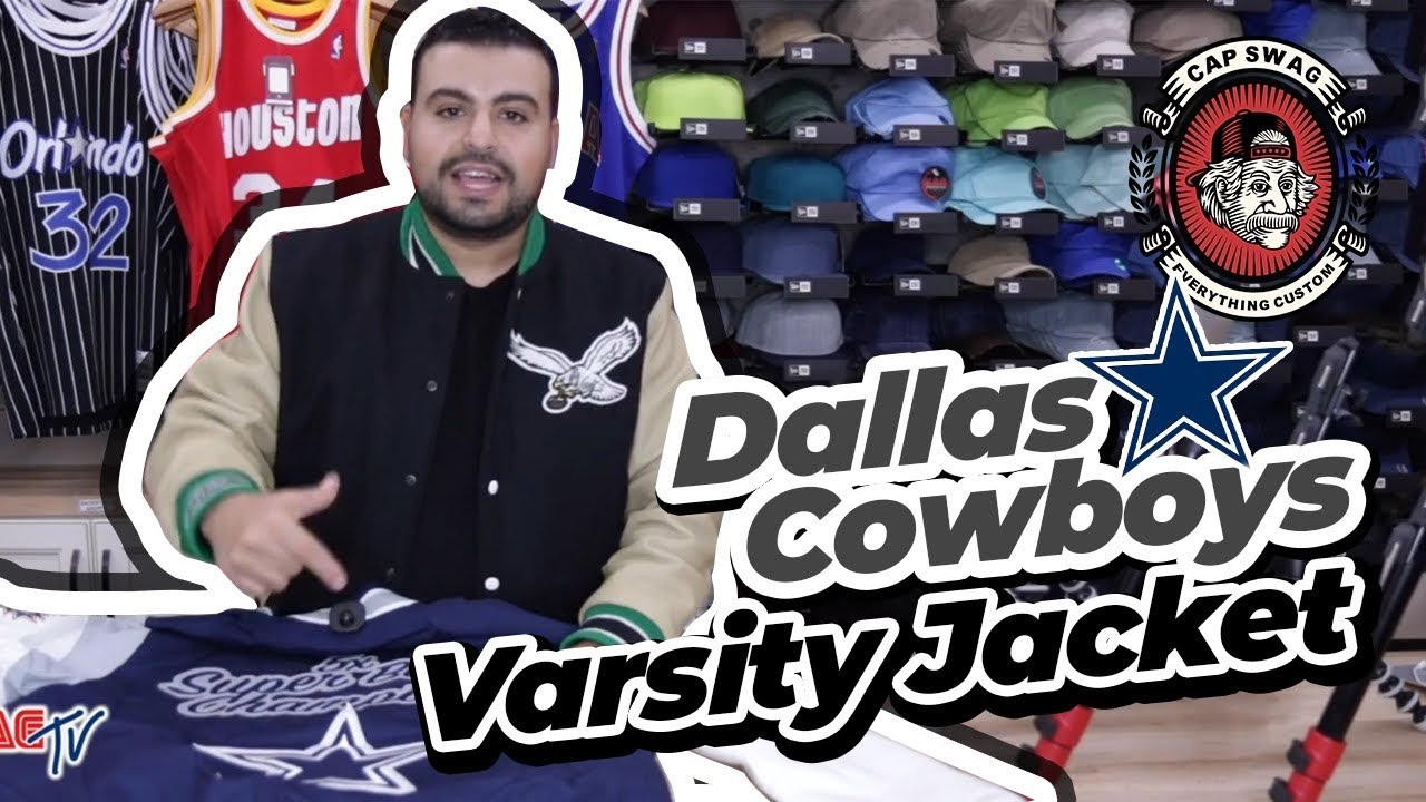 newest collection 39ac7 a8a36 Dallas Cowboys Varsity Jacket with Super Bowl Wins | Lined Cowboys Varsity  Jacket