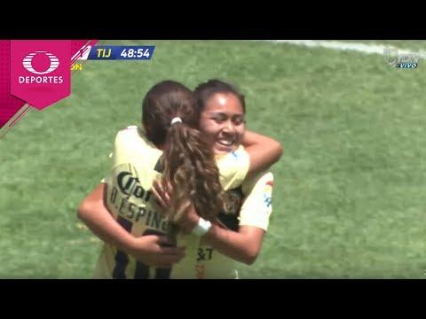 Gol de Montserrat Hernández  | América 2 - 1 Tijuana | Liga MX Femenil - J14 | Televisa Deportes