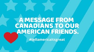 Tell America It's Great(Seems America could use some cheering up right now. Check out what some Canadians are saying about what's happening down south. #tellamericaitsgreat ..., 2016-10-12T21:53:11.000Z)