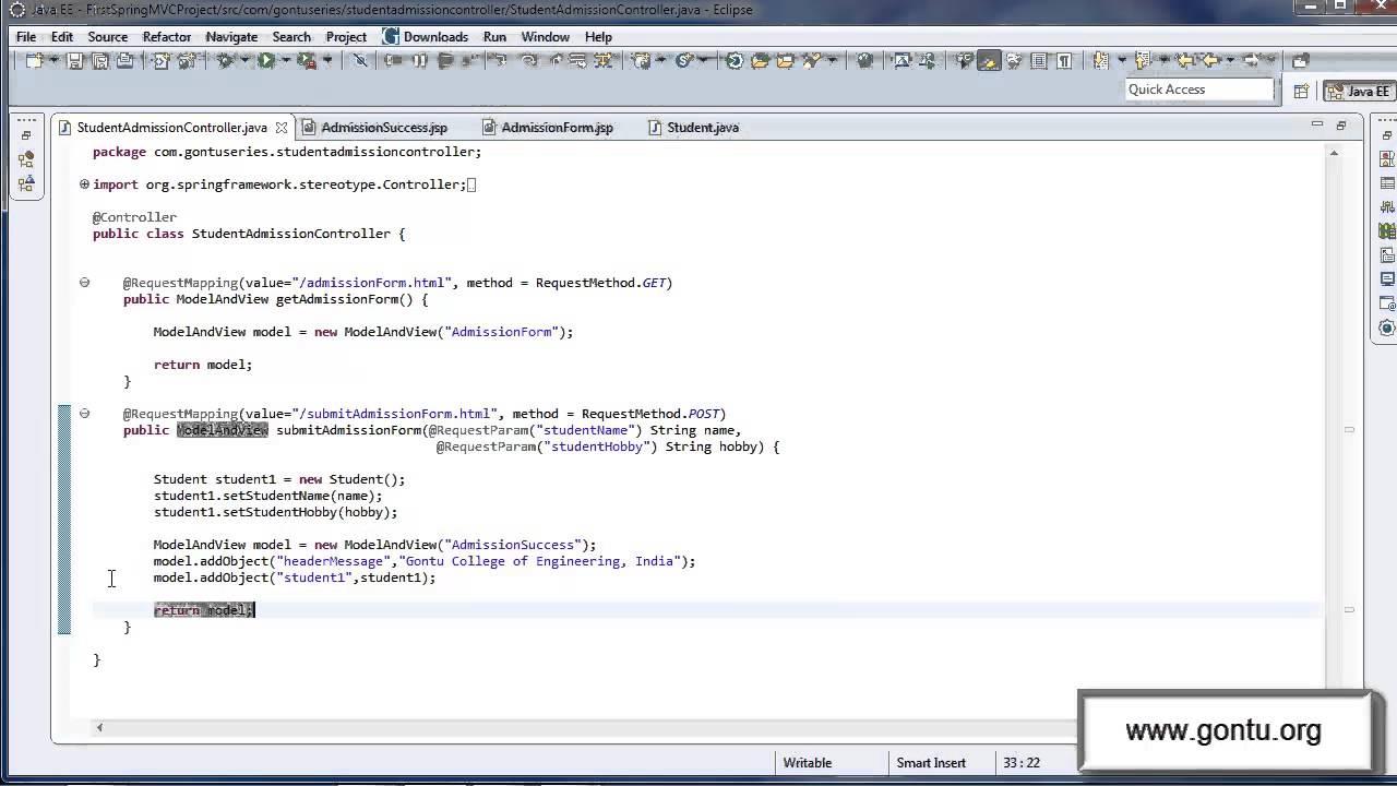 Spring Mvc Tutorials 11 Understanding At Modelattribute Annotation 01 Using On A Method Argument