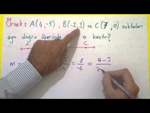 Analitik Geometri 2 - Eğim Ve Denklem Şenol Hoca Matematik