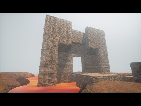 Conan Exiles - Building a tower in a lava pit!
