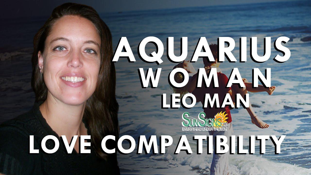 aquarius female leo male dating