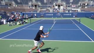 Nadal v Pouille, 2016 USO practice 4K