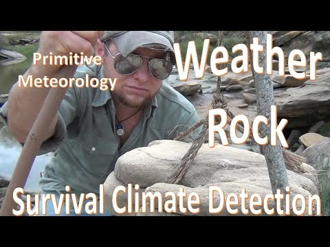 The Weather Rock -Primitive Survival Meteorological Tool-