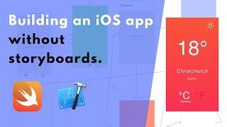 Het bouwen van een iOS-app zonder storyboards. Het maken van UIViews in de code (Weer App #1)