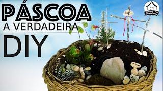 Atividade de Páscoa – DIY mini jardim da ressurreição
