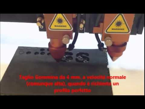 Taglio Gommapiuma Su Misura.Laser Cutting Machine Cut Rubber And Foam Rubber