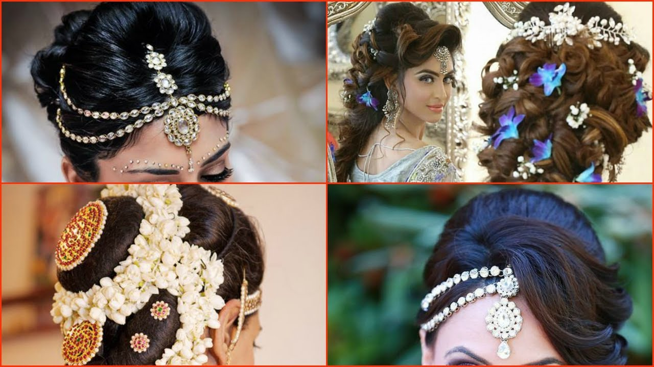 10 most beautiful indian bridal hairstyle images - youtube