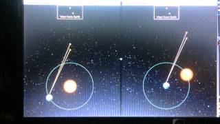 Geocentric And Heliocentric Stellar Parallax Equivalence Animation